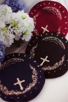 Ista Mori  Embroidery Lolita Beret -Pre-order
