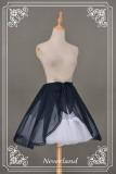 Neverland Lolita Chiffon Overskirt Black In Stock