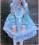 Summer Fairy~Petal Transparent Organza Surface Layer Dress
