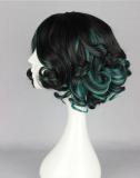 Sweet Black Green Loltia Short Curls Wig