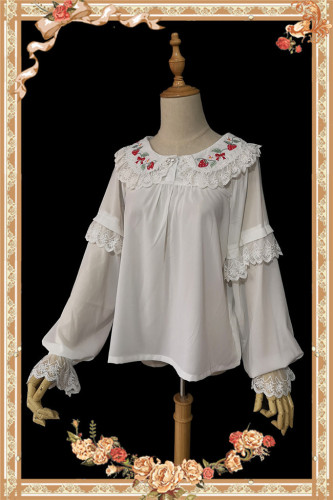 Strawberry Bouquet~ Sweet Lolita Blouse -Special Price