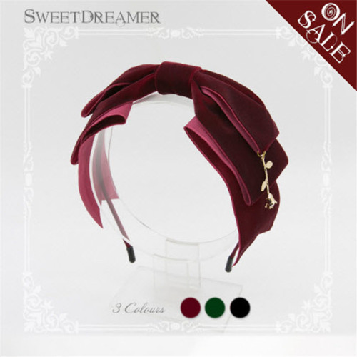 The Little Prince's Rose- Velvet Lolita Headbow -11 Colors