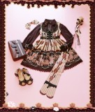 Chocolate Trojan*** Vintage Lolita Normal Waist JSK Dress -Special Price