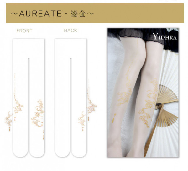 White&Black~ Qi Lolita Tights For Summer