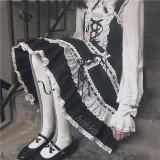 The Heart Strings~Knit Above Knee Lolita Socks