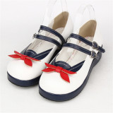 Angelic Imprint- Sweet Sailor Style Double Belts Bow Lolita Shoes