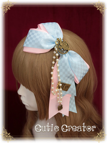 Sweet Dreamer~Goodbye Alice~Rabbit Headbow with beads