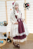 Rabbit Teeth  -Goatherd Maiden-  Vintage Cotton Lolita OP Wine S In STOCK