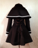 Princess Faith Lace Fan Sleeves Elegant Lolita Long Coat with Cape