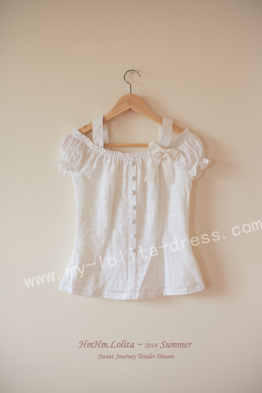 Tender Dream Sweet White Lolita Shirt with Bows -IN STOCK