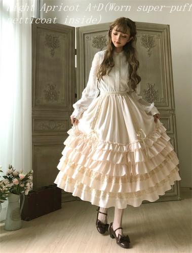 Little Dipper Camellia~ Sweet Lolita Underskirt Petticoat -Flexible Length -Ready Made