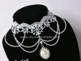 Cute White Lace Pendant Lolita Choker