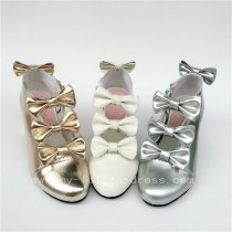 Sweet Girl's Four Bows Lolita Heels Shoes