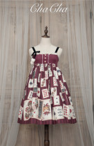 Poker Cat~ Classic Lolita JSK Normal Waist-Ready Made