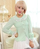 Dream of Lolita Peter Pan Collar Chiffon Long Sleeves Lolita Blouse