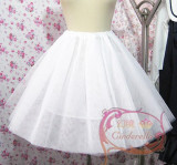White Cotton/Hard Tulle Lolita Dress Petticoat