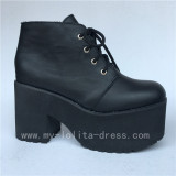 Ankle Boots Matte Black Lolita High Platform Shoes