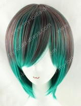 35cm Short Brown Green Lolita Wig