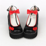 Angelic Imprint- Beautiful Bow Embroidery Qi Lolita High Platform Shoes