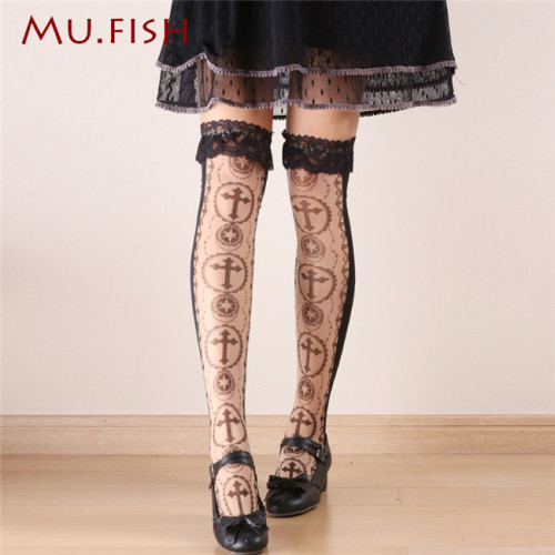 Mu Fish ~Thron Rose~ Summer Lolita Tights -Ready Made
