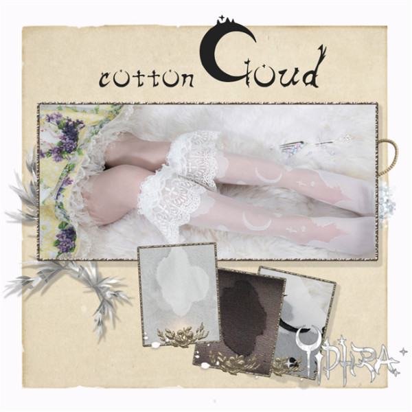 Dream The Witch~Cotton Cloud~Lolita Knee-High Socks