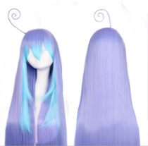Sweet Purple Blue Long Lolita Straight Wig