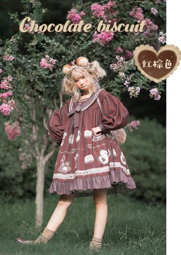 Chocolate Cookie ~Sweet Lolita OP -Ready Made