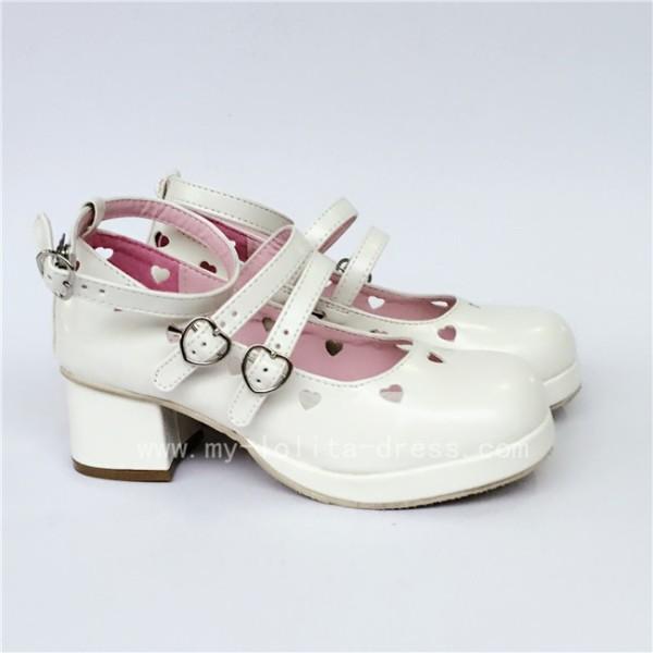 Sweet White Matte Lolita Heels Shoes