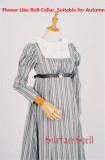 Jane Bennett~ Roll Collar Stripes Vintage Dress