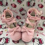 Sweet Pink Square Heel Gokou Ruri Boots