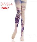 White Cloud Dragon~ 120D Velvet  Qi Lolita Printed Tights