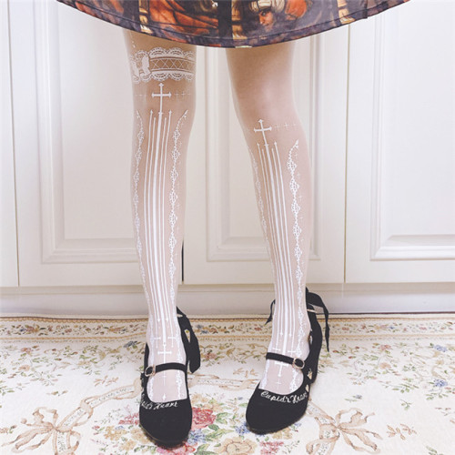 Ruby Rabbit ~Witch Thin Lolita Tights -Pre-order
