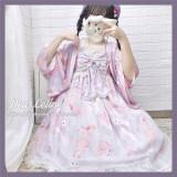 Dear Celine ~Sakura Rabbit~ High Waist Lolita JSK -Ready Made