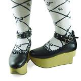 Black Brown Sole Lolita Platform Shoes