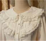 Elegant Cambric Chiffon Long Sleeves Lolita Blouse