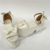 White Bows Lolita High Platform