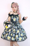 Lemon Honey ~Iced Lemon Soda~ Sweet Lolita OP/JSK -Ready Made