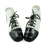 Beautiful Black and White Platform Shoes
