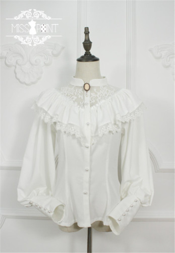 Alpine Maiden ~ Vintage Lolita Long Sleeves Blouse -Pre-order