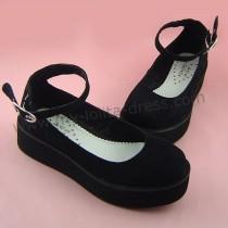 Black Velvet Lolita Shoes
