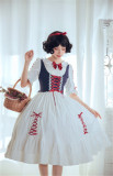 White Snow~ Gorgeous Lolita Short Sleeves OP Dress - Pre-order
