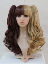 Dark Light Borwn Lolita Curly Wig for Princess