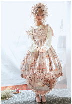 Annie's Breakfast~ Lolita Printed JSK Dress Normal/High Waist Version - Ready Made