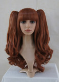 Attractive Unicolor Curls Brown Lolita Wig