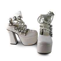 Elegant White Heels Lolita Shoes