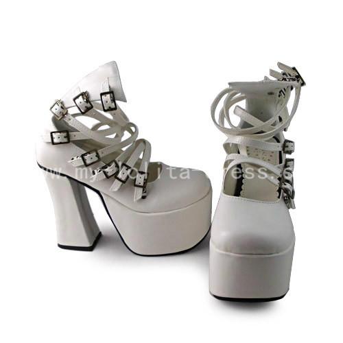 Elegant White Heels Lolita Shoes