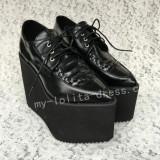 Sweet Matte Black Lolita High Platform