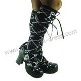 Black Double Straps Lolita Sandals