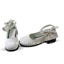 Sweet White Shoes with Bows