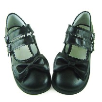 Cute Bow Low Heels Lolita Shoes